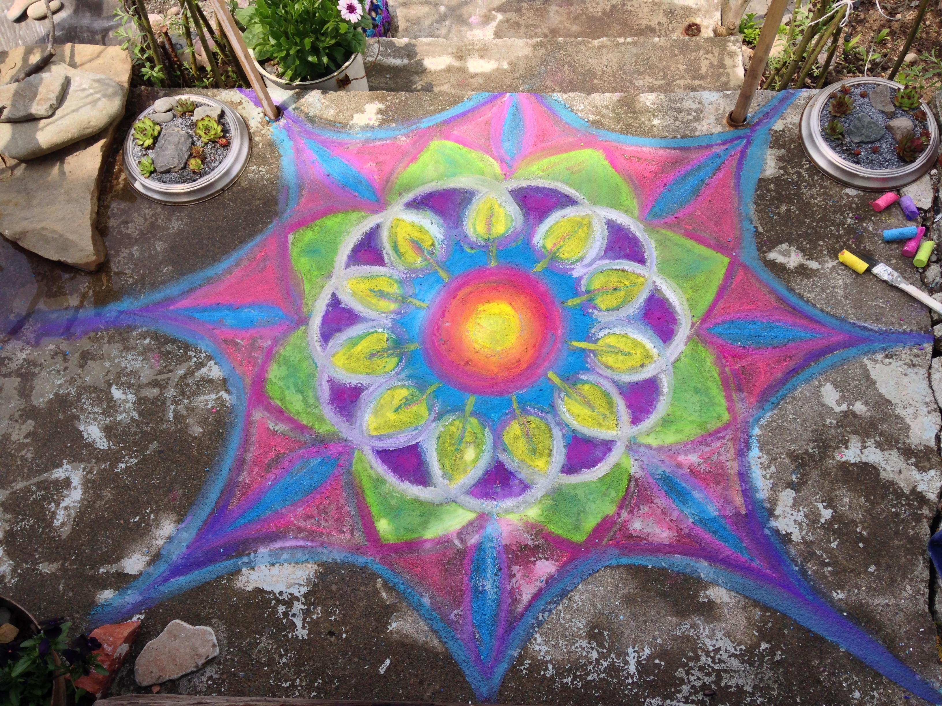 Chalk Mandala